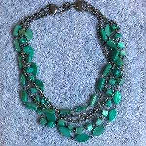 Jewelry - Layerd silver turquoise necklace